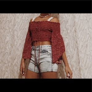 Xhilaration red cropped top